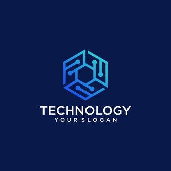 Plantilla de diseño de logotipo de tecnología