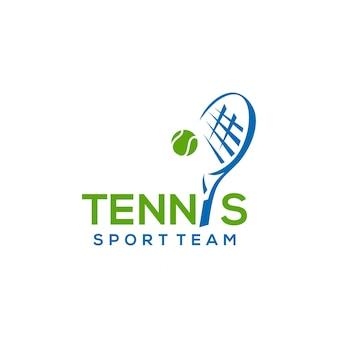 Plantilla de diseño de logotipo de tenis
