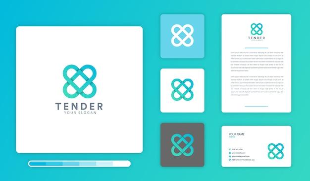 Plantilla de diseño de logotipo tierno