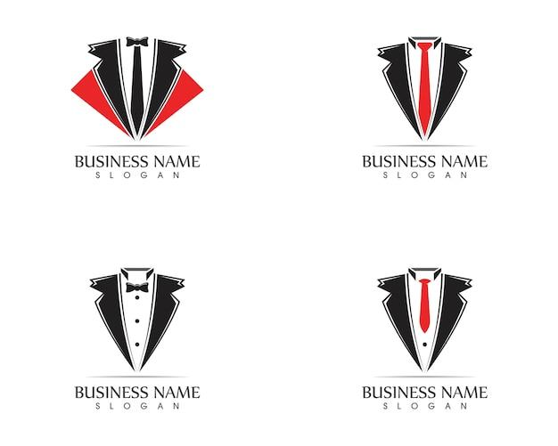 Plantilla de diseño de logotipo de tuxedo