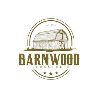 Plantilla de diseño de logotipo vintage barnwood