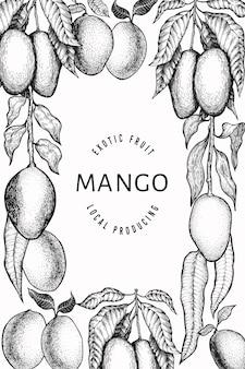 Plantilla de diseño de mango.