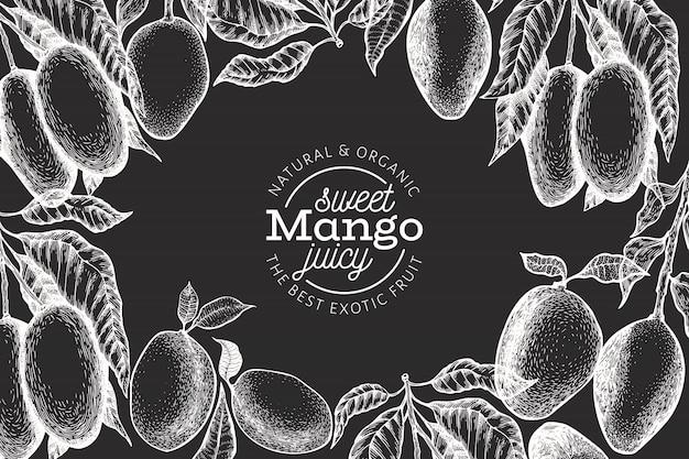 Plantilla de diseño de mango