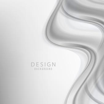 Plantilla de diseño de marco de borde de humo de onda abstracta swoosh. fondo de flujo de onda gris