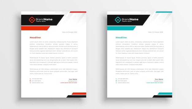 Plantilla de diseño de membrete moderno para empresas