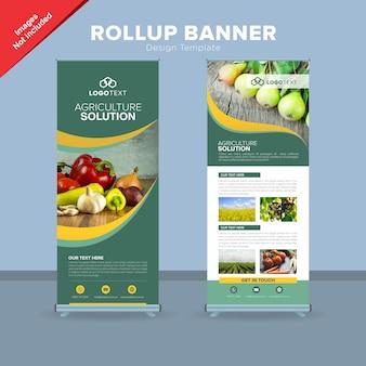 Plantilla de diseño moderno banner rollup