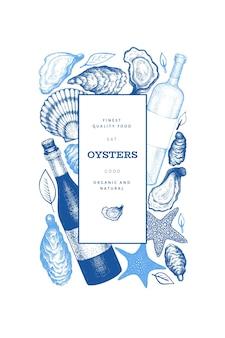 Plantilla de diseño de ostras