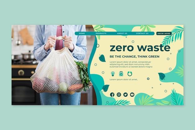 Plantilla de diseño de página de destino cero wastee
