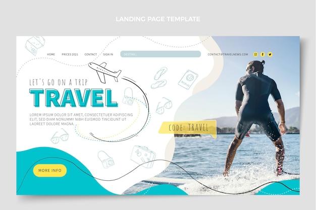 Plantilla de diseño de página de destino de viajes