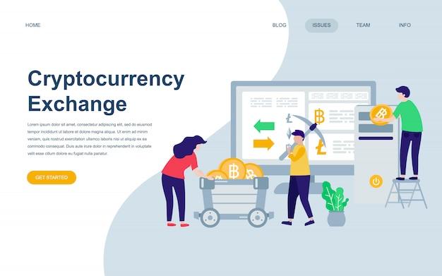 Plantilla de diseño de página web plana moderna