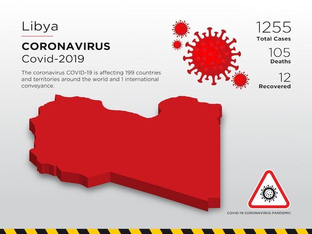 Plantilla de diseño del país afectado de la enfermedad por coronavirus
