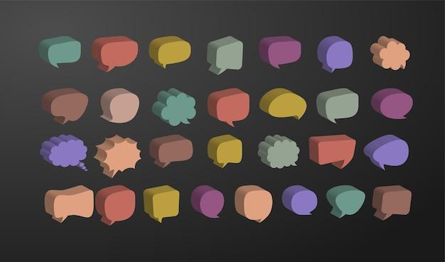 Plantilla de diseño de papel de corte de burbuja de discurso 3d.