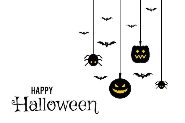 Plantilla de diseño de papel tapiz de fondo de volante de banner de halloween
