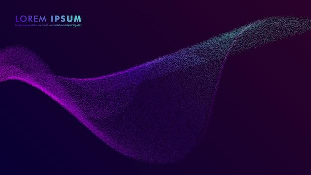Plantilla de diseño de partículas degradado abstracto flyer