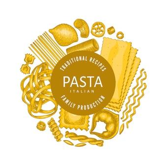 Plantilla de diseño de pasta italiana.