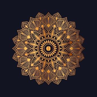 Plantilla de diseño de patrón arabesco dorado