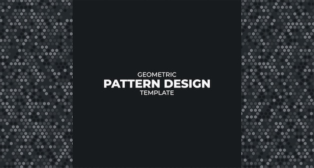 Plantilla de diseño de patrón geométrico moderno