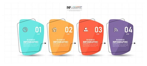 Plantilla de diseño plano infografía.