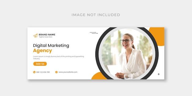 Plantilla de diseño de portada de facebook o banner web de marketing digital