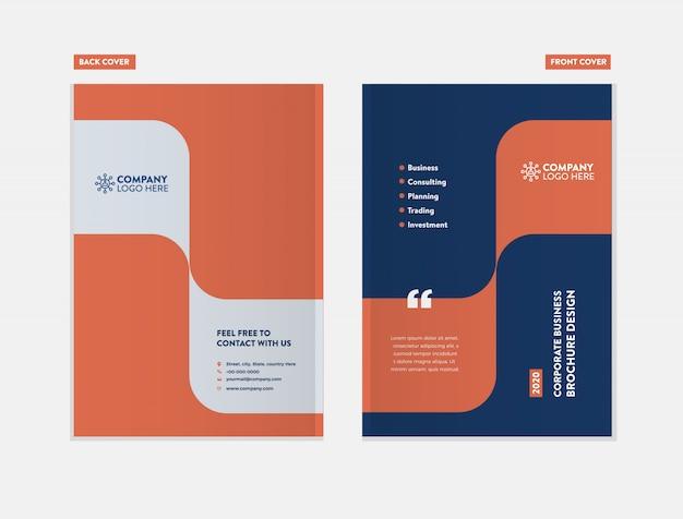 Plantilla de diseño de portada de folleto de negocios