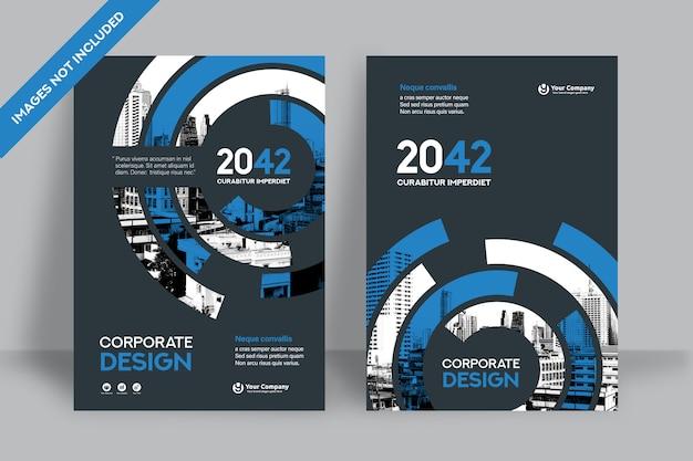 Plantilla de diseño de portada de libro corporativo en a4.