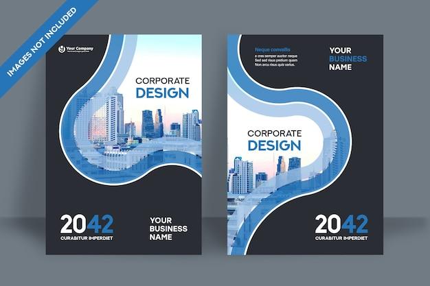Plantilla de diseño de portada de libro corporativo en a4