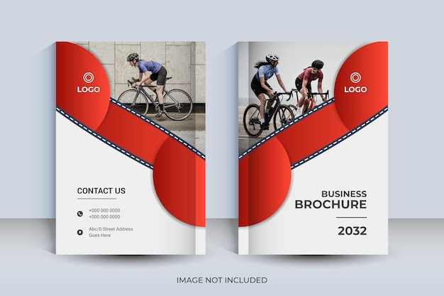Plantilla de diseño de portada de libro corporativo a4