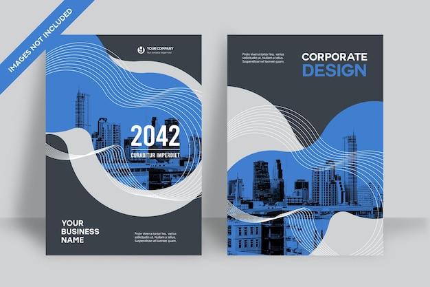 Plantilla de diseño de portada de libro corporativo