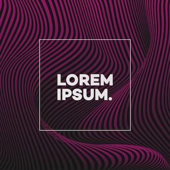 Plantilla de diseño de portada con líneas abstractas estilo degradado moderno de color rosa para libro de decoración