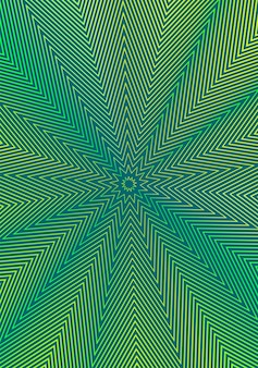 Plantilla de diseño de portada mínima. diseño de folleto moderno. degradados de semitono vibrantes amarillos verdes sobre fondo oscuro.