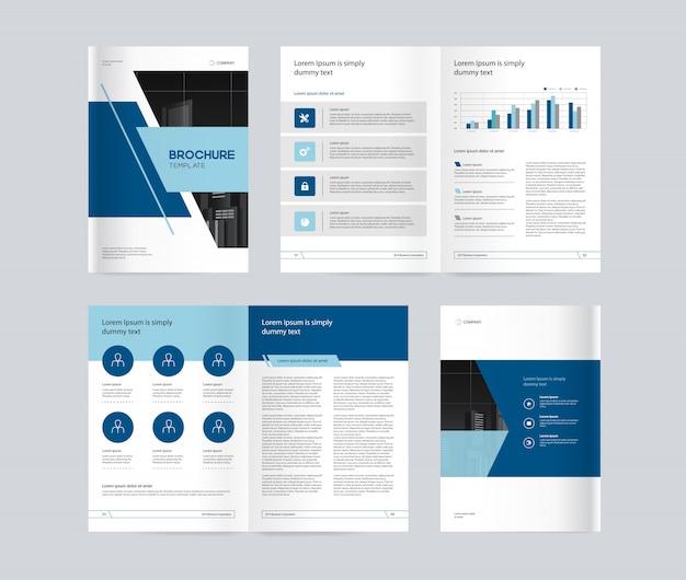 Plantilla de diseño con portada de página