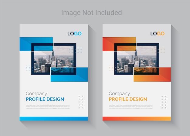 Plantilla de diseño de portada de perfil de empresa colorida