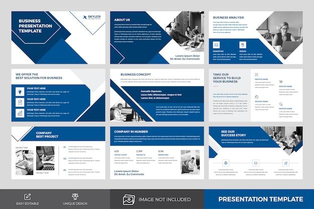 Plantilla de diseño de presentación comercial
