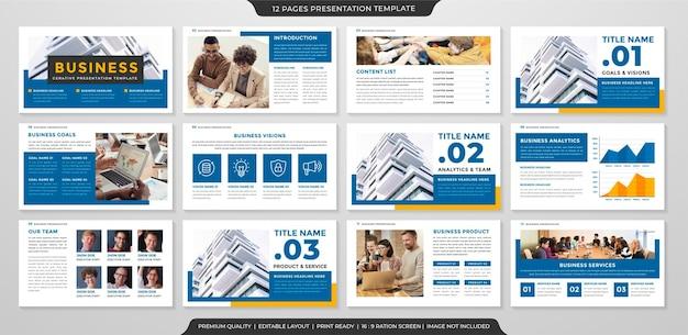 Plantilla de diseño de presentación de negocios estilo premium