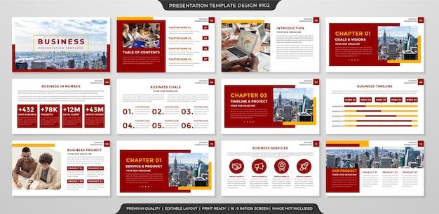 Plantilla de diseño de presentación de negocios limpia