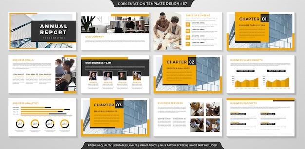 Plantilla de diseño de presentación