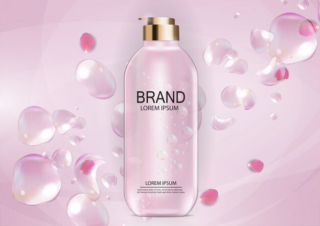 Plantilla de diseño de productos cosméticos para anuncios