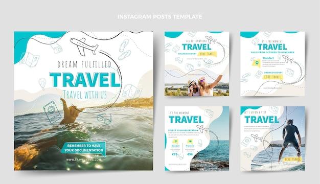 Plantilla de diseño de publicación de instagram de viajes