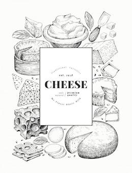 Plantilla de diseño de queso.