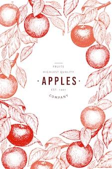 Plantilla de diseño de ramas de apple.