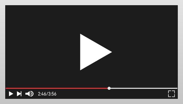 Plantilla de diseño de reproductor de video moderno para aplicaciones web y móviles.