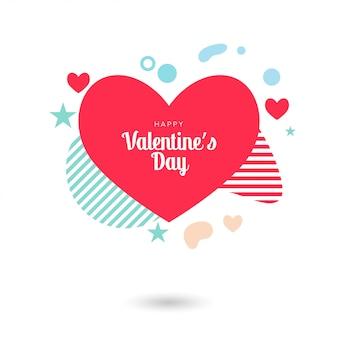 Plantilla de diseño de san valentín venta corazón banner