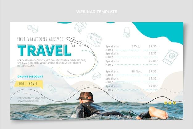 Plantilla de diseño de seminario web de viajes