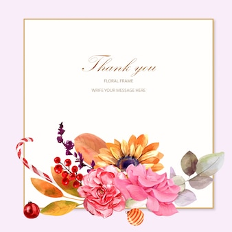 Plantilla de diseño de tarjeta de agradecimiento