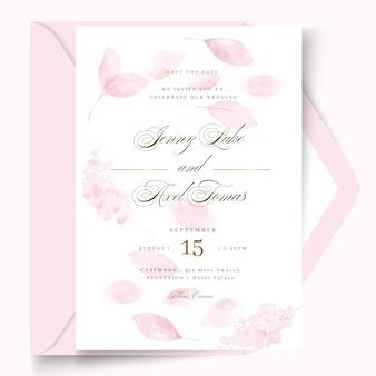 Plantilla de diseño de tarjeta de boda mínima
