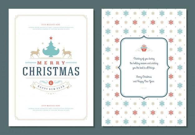 Plantilla de diseño de tarjeta de felicitación de navidad