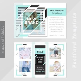 Plantilla de diseño de tarjeta postal de moda