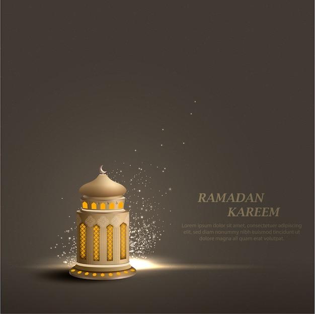 Plantilla de diseño de tarjeta de ramadán