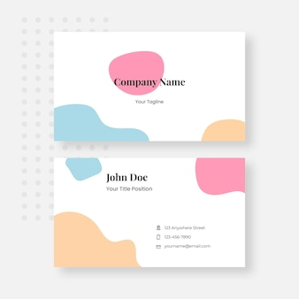 Plantilla de diseño de tarjeta de visita de caramelo lindo