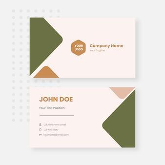 Plantilla de diseño de tarjeta de visita en colores pastel vector gratuito